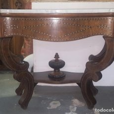 Antigüedades: CONSOLA EN MADERA DE PALISANDRO.ESTILO ISABELINO. ESPAÑA. SIGLO XIX.. Lote 96860783