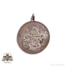 Antigüedades: MEDALLA RECUERDO PRIMERA COMUNIÓN - 2,5 CM DE DIÁMETRO. Lote 96862255