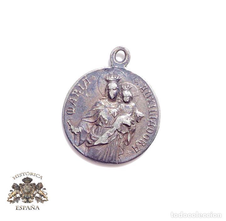 ANTIGUA MEDALLA RELIGIOSA - MARIA AUXILIADORA (Antigüedades - Religiosas - Medallas Antiguas)