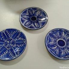 Antigüedades: LOTE 3 PLATOS MANISES, PRINCIPIOS S XX , PERFECTO ESTADO. Lote 96871846