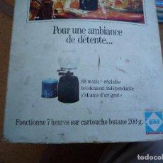 Antigüedades: LAMPARA DE CAMPING CON CARGA CARTUCHO CON CAMISAS DE RECAMBIO. Lote 96879339