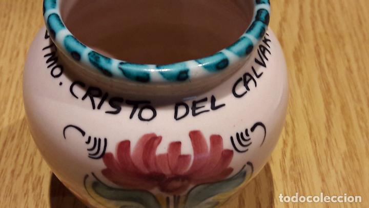 Antigüedades: SANTÍSIMO CRISTO DEL CALVARIO. TARRO DE CERÁMICA / PUENTE DEL ARZOBISPO. 12 CM. PERFECTO. - Foto 6 - 96888043