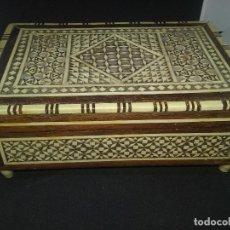Antigüedades: ANTIGUA CAJA DE MUSICA DE MARQUETERIA.. Lote 96900659