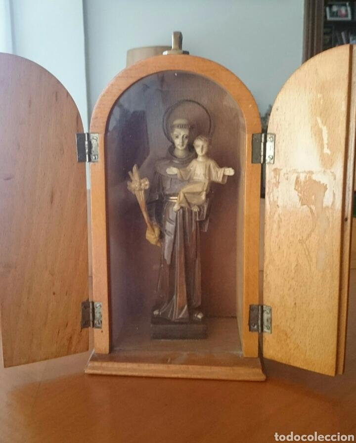 PRECIOSO LIMOSNERO DE SAN ANTONIO , FORMA DE CAPILLA,PRECIOSA,PERFECTA,VED FOTOS (Antigüedades - Religiosas - Varios)