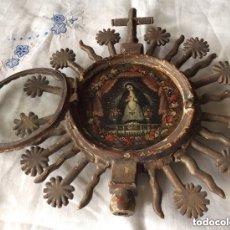 Antigüedades: STA.TERESA ,CRISTO DEL GRAN PODER CUSTODIA-RELICARIO SIGLO XVII,CON MINIATURAS PINTADAS SOBRE COBRE. Lote 96915359