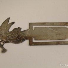 Antigüedades: MARCAPAGINAS EN PLATA MACIZA DE LEY 925MILESIMAS. Lote 106895912