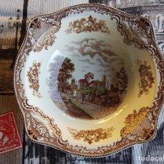 Antigüedades: ANTIGUO CUENCO O BOL, JOHNSON BROS, OLD BRITAIN CASTLE, RUTHIN CASTLE IN 1792. BIEN CONSERVADO.. Lote 96930583