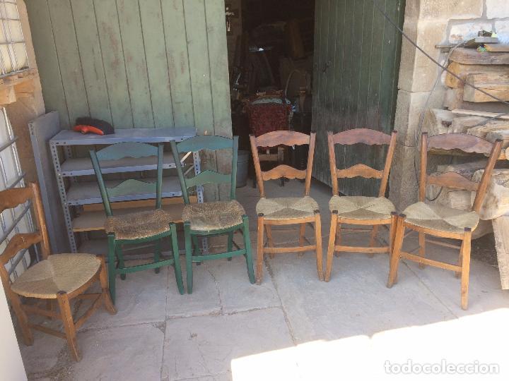 Antiguas 7 silla sillas de boga con respaldo comprar for Sillas de comedor antiguas