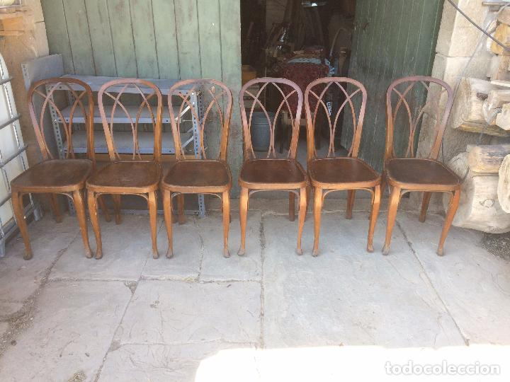 antiguas 6 silla / sillas de madera para mesa - Comprar Sillas ...