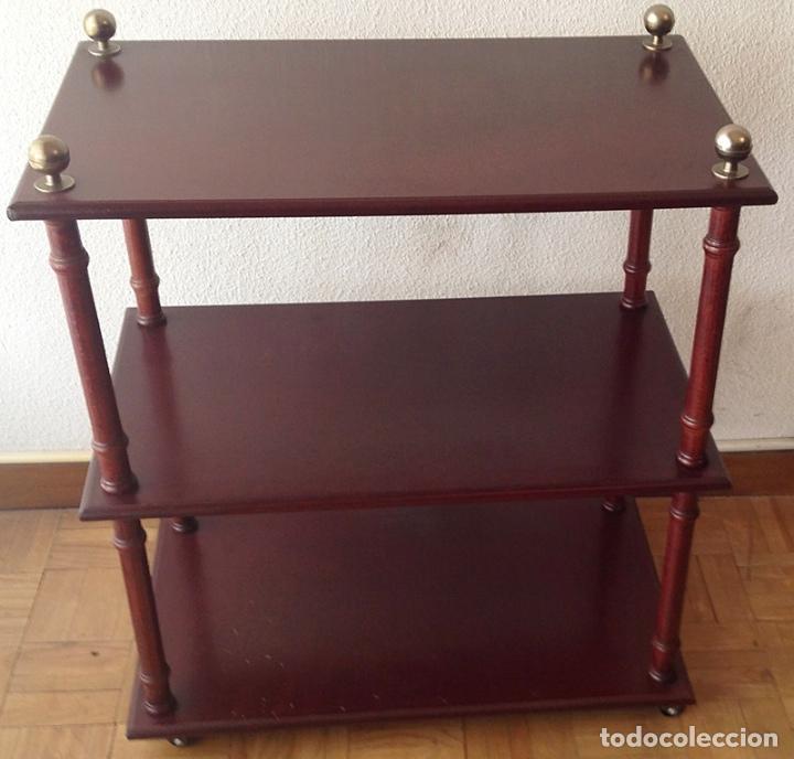 Elegante mueble auxiliar con ruedas madera ma comprar for Mueble auxiliar con ruedas