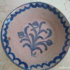 Antigüedades: CUENCO DE CERÁMICA DE FAJALAUZA. 21 CM DE DIÁMETRO. Lote 96960543
