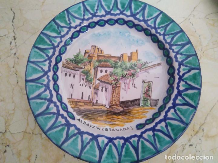 PLATO DE CERÁMICA DE FAJALAUZA. 23.5 CM DE DIÁMETRO. (Antigüedades - Porcelanas y Cerámicas - Fajalauza)