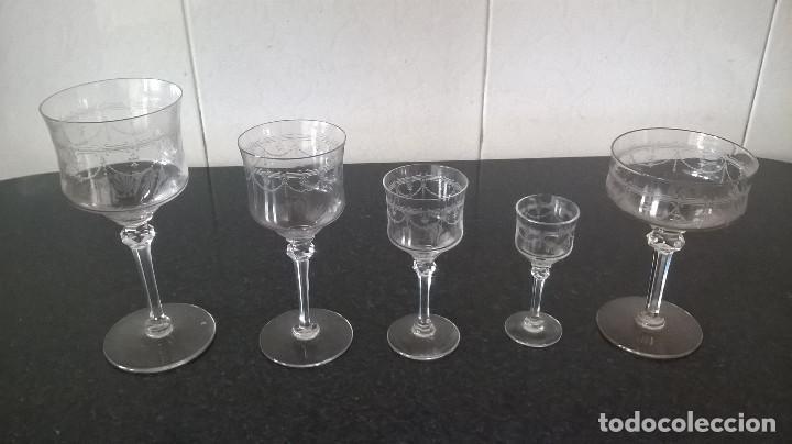 12-EXQUISITA CRISTALERIA, SET DE 5 COPAS (Antigüedades - Cristal y Vidrio - Otros)