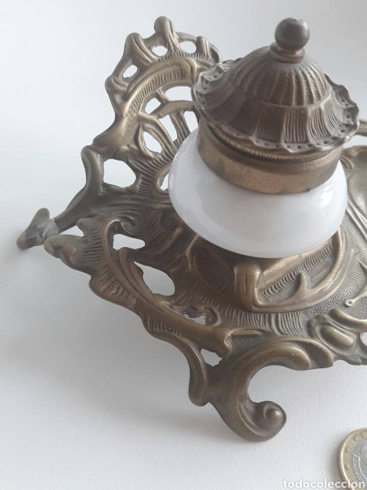 Antigüedades: Quínque Lámpara bronce o latón - Foto 2 - 96964918