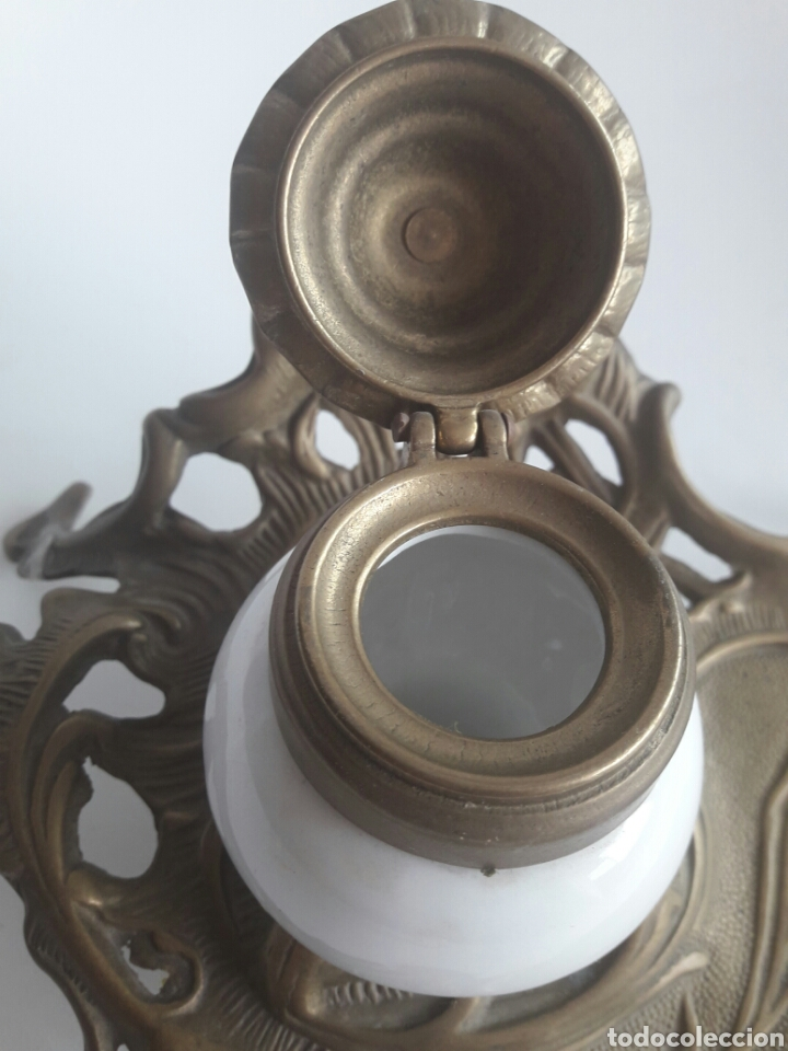 Antigüedades: Quínque Lámpara bronce o latón - Foto 3 - 96964918