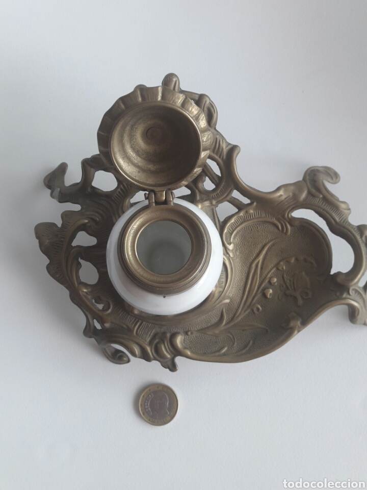 Antigüedades: Quínque Lámpara bronce o latón - Foto 4 - 96964918