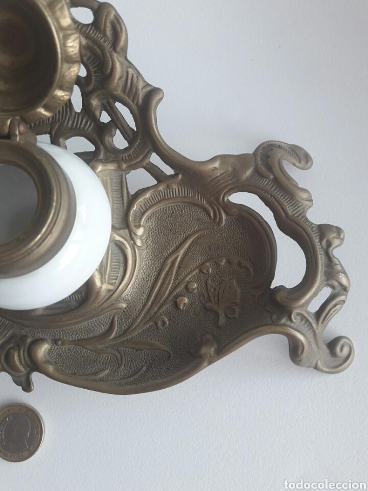 Antigüedades: Quínque Lámpara bronce o latón - Foto 5 - 96964918