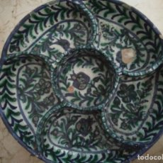 Antigüedades: BANDEJA DE CERÁMICA DE FAJALAUZA PARA APERITIVOS. 25.5 CM DE DIÁMETRO.. Lote 96973399