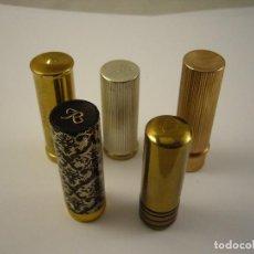 Antigüedades: LOTES DE 5 ANTIGUO PINTALABIOS VACIOS . Lote 96997019