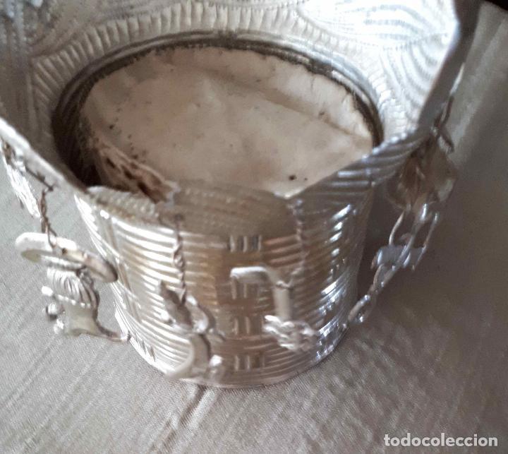 Antigüedades: Excelente Cestillo de plata para Virgen Pastora - Foto 8 - 80104793