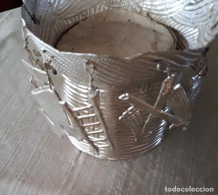 Antigüedades: Excelente Cestillo de plata para Virgen Pastora - Foto 9 - 80104793