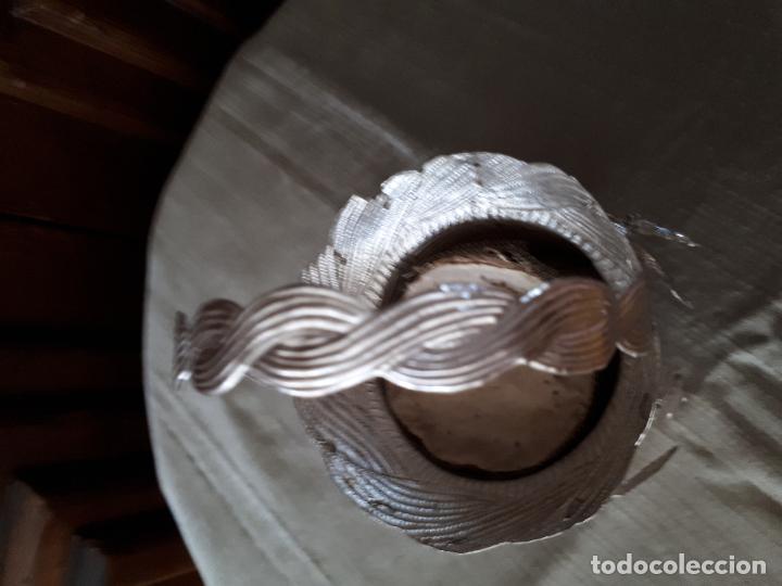 Antigüedades: Excelente Cestillo de plata para Virgen Pastora - Foto 11 - 80104793