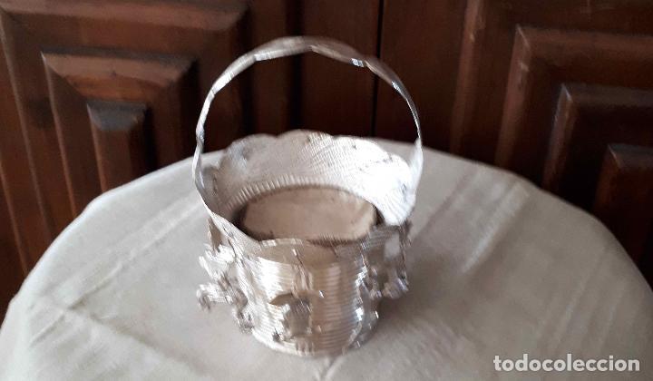 Antigüedades: Excelente Cestillo de plata para Virgen Pastora - Foto 13 - 80104793