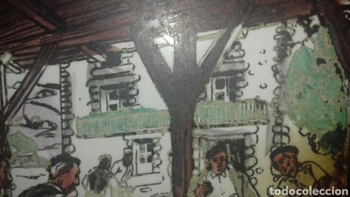 Antigüedades: Muy antiguo azulejo con obra JOSE ARRUE Pintado a mano Años 40 Firma ilegible Pais Vasco - Foto 5 - 97009163