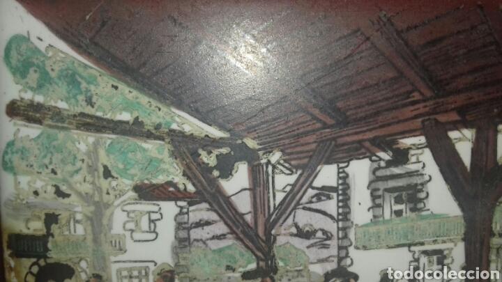 Antigüedades: Muy antiguo azulejo con obra JOSE ARRUE Pintado a mano Años 40 Firma ilegible Pais Vasco - Foto 6 - 97009163