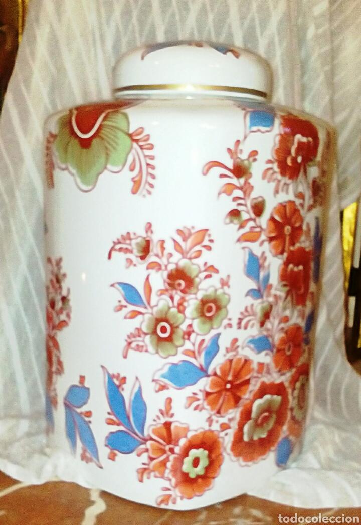 Antigüedades: Jarron, tibor de porcelanas Hispania Manises. De su primersa epoca. Muy vintage. - Foto 2 - 97029906