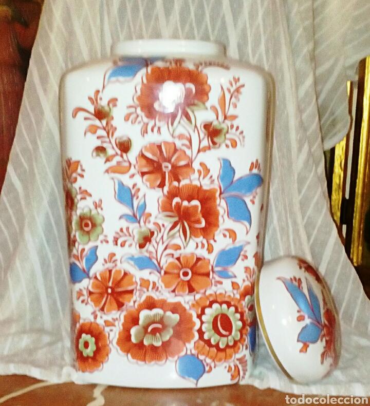 Antigüedades: Jarron, tibor de porcelanas Hispania Manises. De su primersa epoca. Muy vintage. - Foto 3 - 97029906