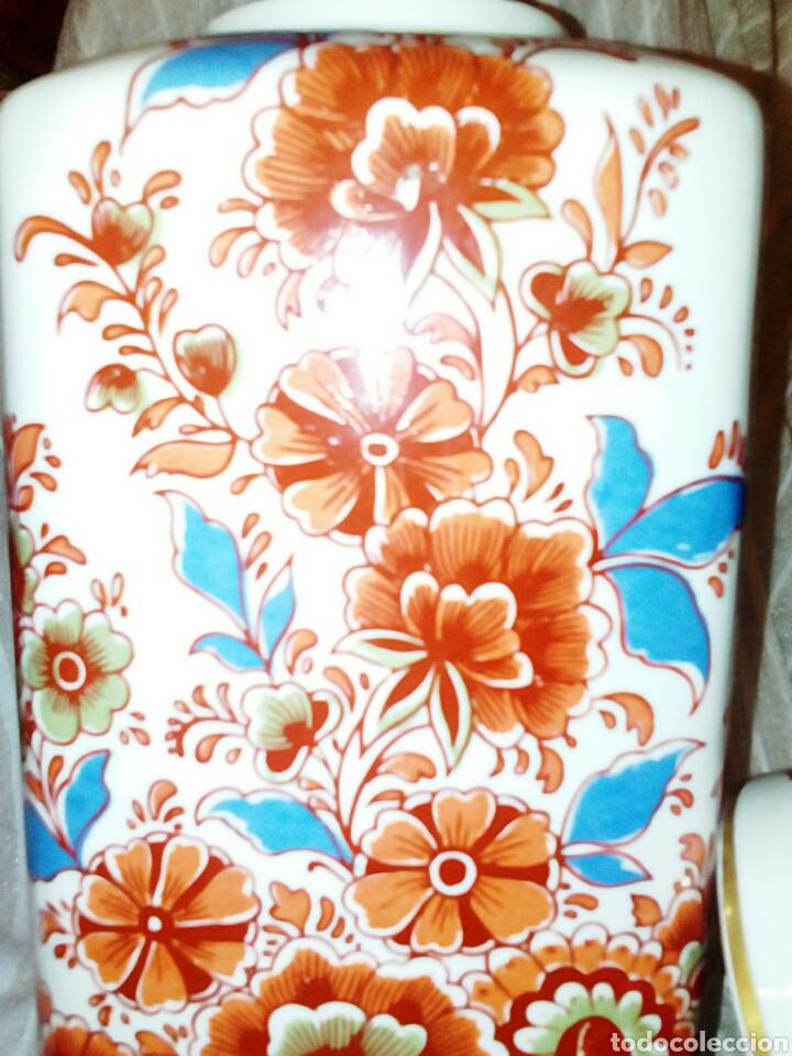 Antigüedades: Jarron, tibor de porcelanas Hispania Manises. De su primersa epoca. Muy vintage. - Foto 4 - 97029906