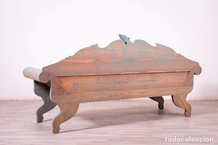 Antigüedades: Banco Balinés de madera - Foto 6 - 83325328