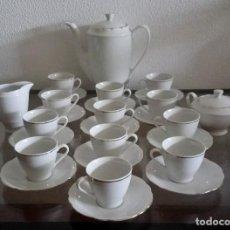 Antigüedades: JUEGO DE CAFÉ -12 SERVICIOS - NUEVO - ERIKA BAVARIAN PORZELLAN KÖNIGLICHES - HAND PRINTED - REF. 362. Lote 97061495
