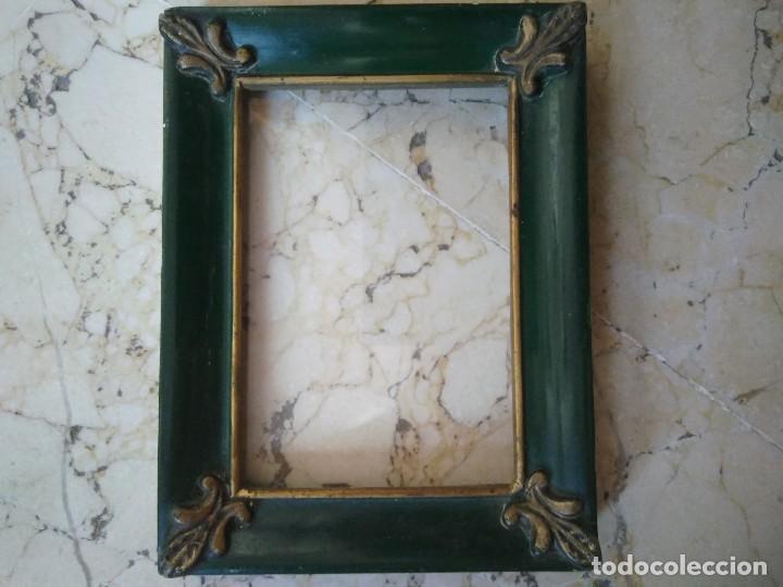 marco de madera verde. 12 x 16 cm. con crist - Comprar Marcos ...