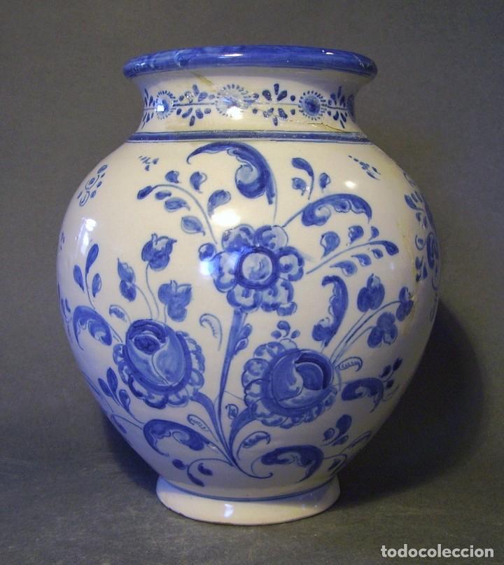 JARRÓN CERÁMICA DE TALAVERA XIX – XX (Antigüedades - Porcelanas y Cerámicas - Talavera)