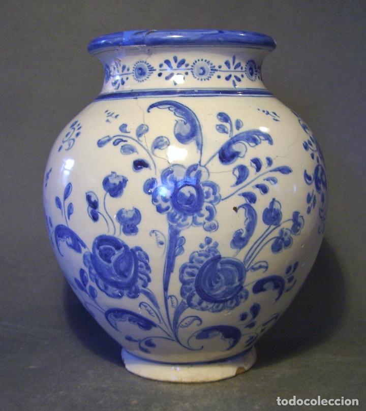 Antigüedades: JARRÓN CERÁMICA DE TALAVERA XIX – XX - Foto 3 - 97086967