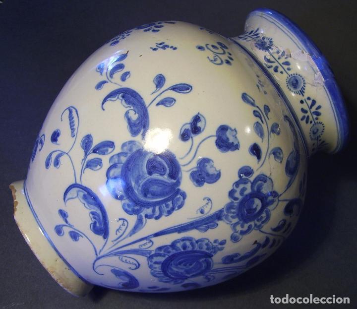 Antigüedades: JARRÓN CERÁMICA DE TALAVERA XIX – XX - Foto 8 - 97086967