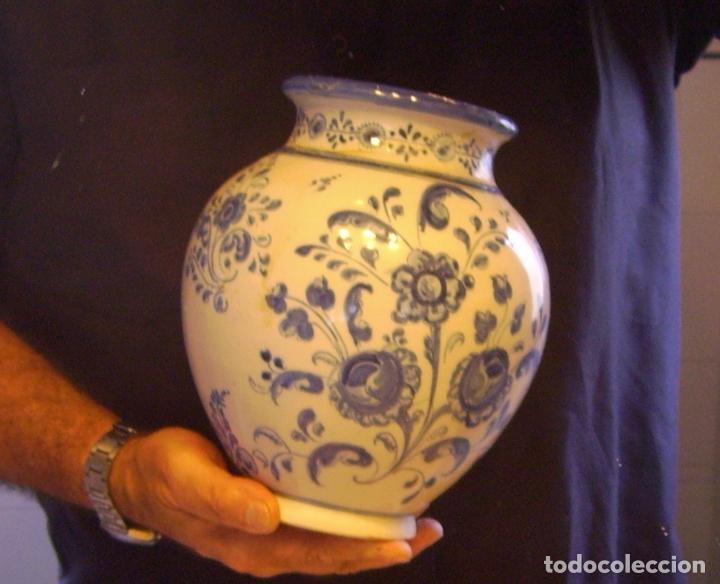 Antigüedades: JARRÓN CERÁMICA DE TALAVERA XIX – XX - Foto 18 - 97086967
