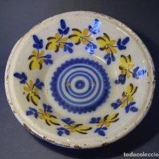 Antigüedades: ROTUNDO LEBRILLO CERÁMICA DE TRIANA XIX . Lote 97087287