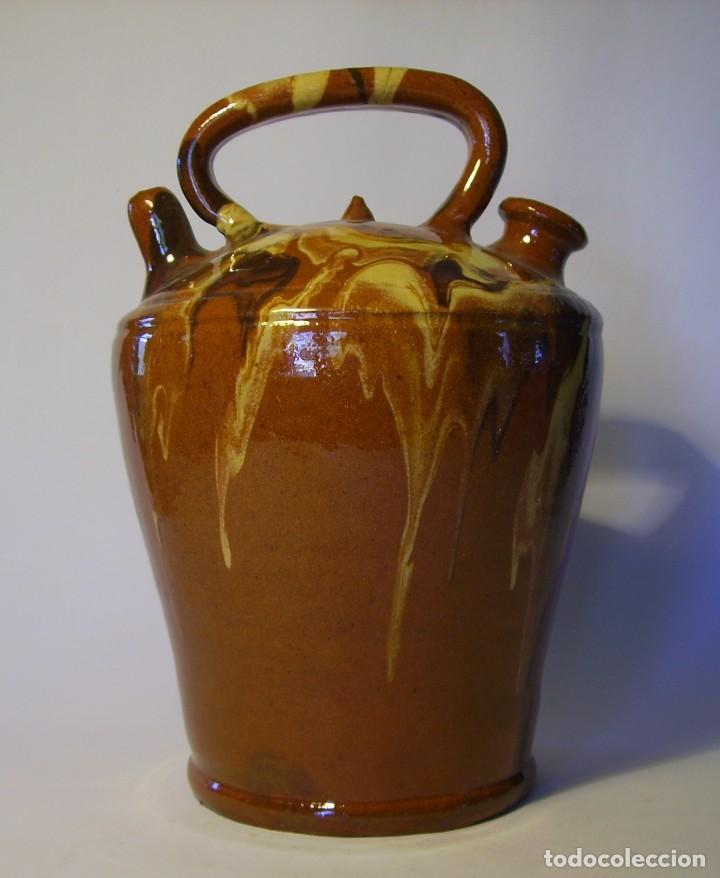 BOTIJO DE TERRISSA CATALANA XX (Antigüedades - Porcelanas y Cerámicas - Catalana)