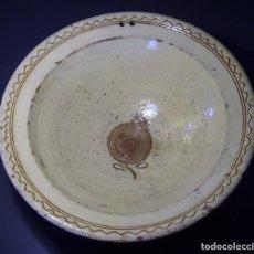 Antigüedades: SOBERBIO Y GRAN PLATO DE TERRISSA CATALANA XIX . Lote 97088043