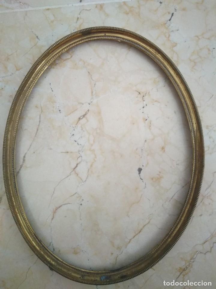 pareja de marcos ovalados de latón. 17.5 x 22 - Comprar Marcos ...