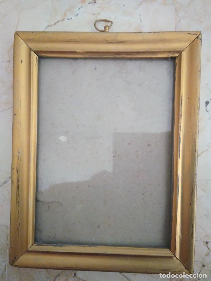 antiguo marco de madera con cristal. 18.5 x - Comprar Marcos ...