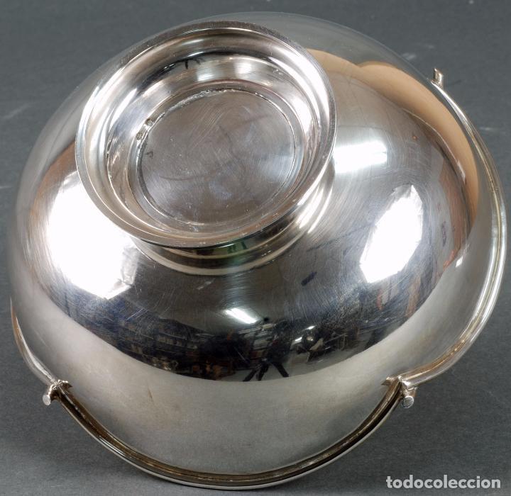 Antigüedades: Centro de mesa plata punzonada en forma de cesta años 40 - Foto 6 - 97111251