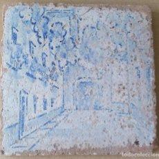 Antigüedades: AZULEJO ANTIGUO PINTADO A MANO. TRIANA CA.1850. Lote 97111347