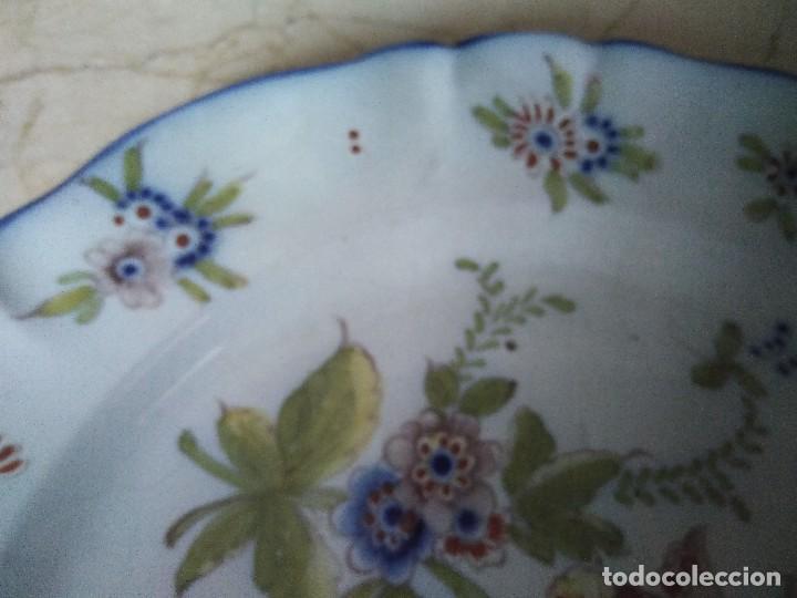 Antigüedades: ORIGINAL PLATO DE CERÁMICA DE MANISES. 34.5 CM DE DIÁMETRO. - Foto 3 - 97156287