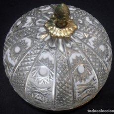 Antigüedades: PLAFON, LAMPARA DE TECHO, DE CRISTAL DE BOHEMIA. Lote 97172663