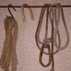 Antigüedades: 2,5 M. DE CUERDA CON TARABITA Y PASADOR. Lote 97188263