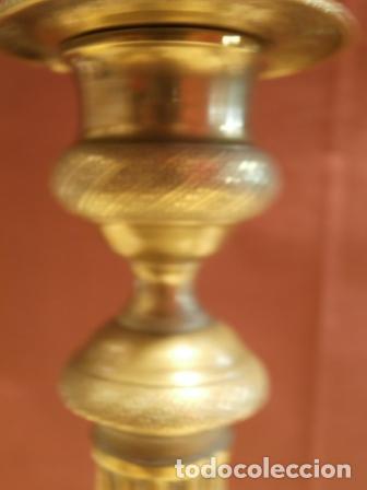 Antigüedades: Pareja de candeleros Franceses - Foto 2 - 97195483